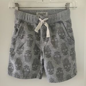 Kids Pineapple Skulls Jogger Shorts